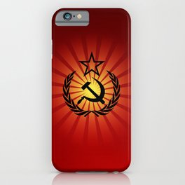 Sunny Hammer and Sickle iPhone Case