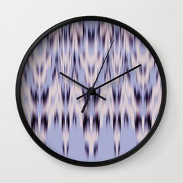 big ikat chevron in steel blue Wall Clock