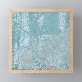 Galvanized Vintage Metal Blue Framed Mini Art Print