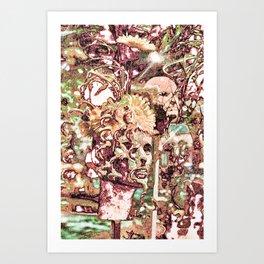 Floral Interaction Art Print