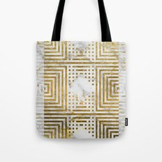 Marble and Gold Pattern #2 Tote Bag