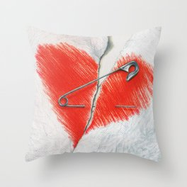 Unbroken by Lars Furtwaengler | Colored Pencil | 2016 Throw Pillow
