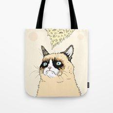 Grumpy Pizza Love Tote Bag