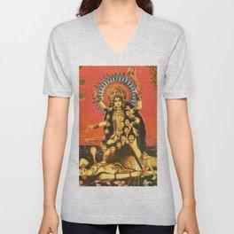 Hindu - Kali 5 Unisex V-Neck