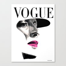 Vintage Beauty Vogue Magazine Cover. Fashion Illustration Canvas Print