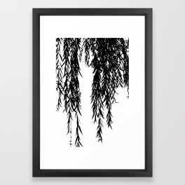 willow bw Framed Art Print