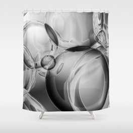 Bubble Noir Shower Curtain