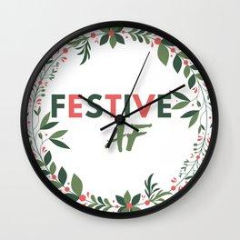 Festive AF Wall Clock
