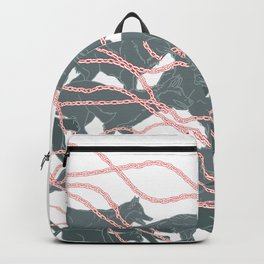 Boy who went forth to learn what fear was - brothers Grimm illustration Backpack