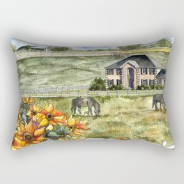 The Horse Ranch Rectangular Pillow