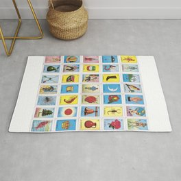 Mexican Loteria Card Tarot Card Game Design Spanish Rug