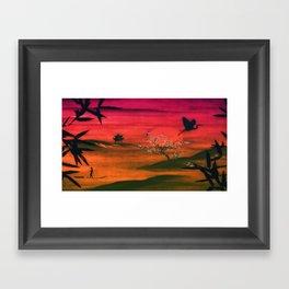 Oriental Sunset Framed Art Print