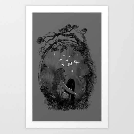 Boredom Strikes Art Print