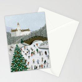 Ice skating pond Stationery Cards