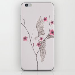Flying Through The Blossom iPhone Skin