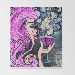 Martini Girl Throw Blanket