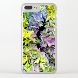 Green purple hydrangea Clear iPhone Case