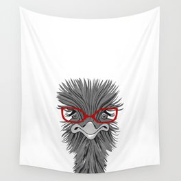 Wise Ostrich Wall Tapestry