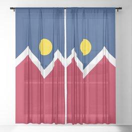 Denver City Flag - Authentic High Quality Sheer Curtain