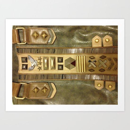Eagle Leather Fashion Case Art Print