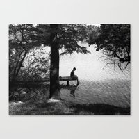 alone Canvas Prints featuring Alone by Kerri Swayze