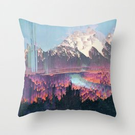 Glitched Landscapes Collection #2 Throw Pillow