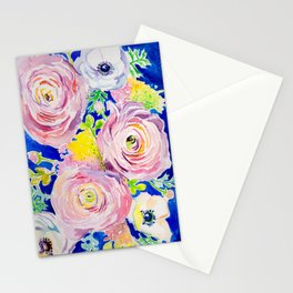 Blue Posey Stationery Cards