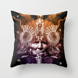 Psychedelic Shaman Throw Pillow