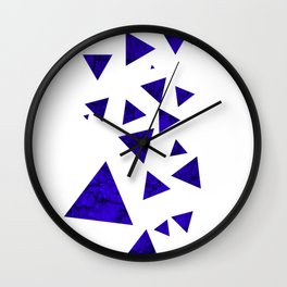 Triangles of March Wall Clock