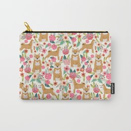 Shiba Inu floral dog must have gifts for shiba lovers florals dog breed Carry-All Pouch