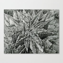 Opus of Time (Star Cityscape) Canvas Print