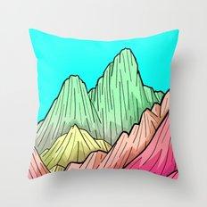 Candy Colour Mounts Throw Pillow