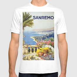 San Remo - Italy Vintage Travel Poster 1920 T-shirt