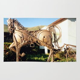 Horse & Plough by Shimon Drory Rug