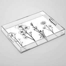 Stemmed Weeds Acrylic Tray