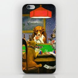 Dogs Playing Poker A Friend in Need iPhone Skin