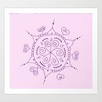 henna Art Prints featuring Henna by Melissa Wildt