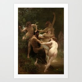 """William-Adolphe Bouguereau """"Nymphs and Satyr"""" Art Print"""