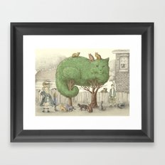 The Night Gardener - The Cat Tree Framed Art Print