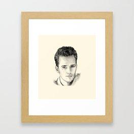 Luke Perry–Dylan McKay Framed Art Print
