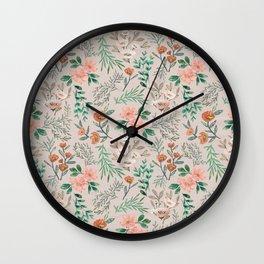 Springtime Pattern Wall Clock