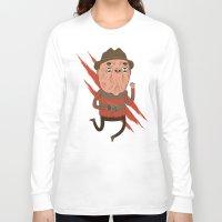 freddy krueger Long Sleeve T-shirts featuring Freddy by Daniel Mackey