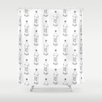 tequila Shower Curtains featuring Tequila Pattern by Mrs. Ciccoricco