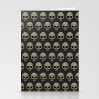 polkadot Stationery Cards featuring Odd Skull Polkadot by Luke Clark