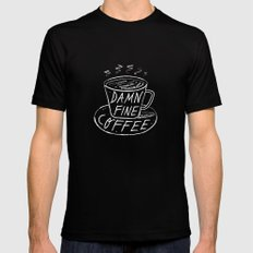 Damn Fine Coffee Black Mens Fitted Tee X-LARGE