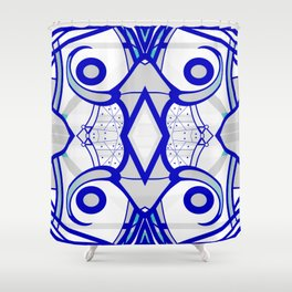 Blue morning - abstract decorative pattern Shower Curtain
