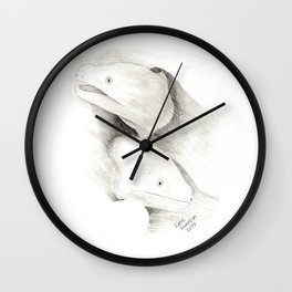 Moray Eels Sketch Wall Clock