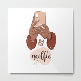Nailfie Color Acrylic Street Metal Print