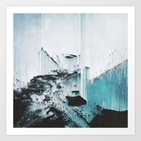 glitch Art Prints featuring Glitch by SUBLIMENATION