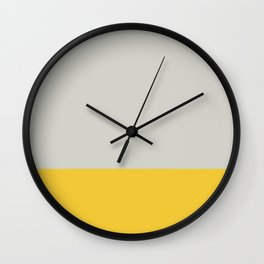 Sunshine at the end of a Grey day Wall Clock